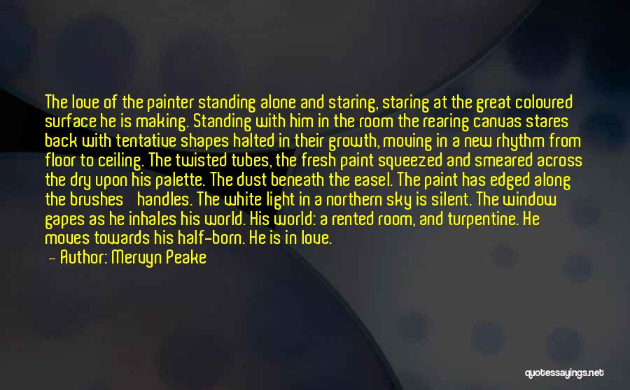 Standing Alone In The World Quotes By Mervyn Peake