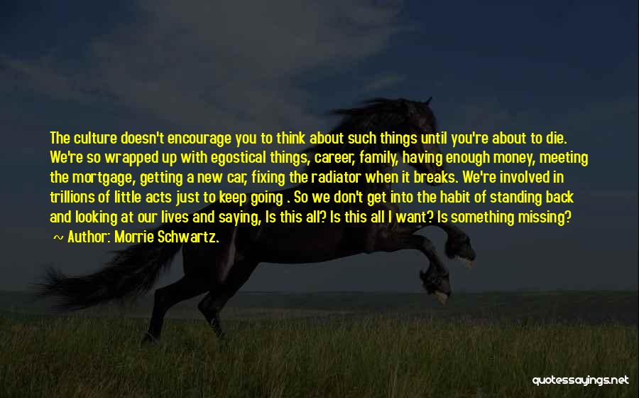Standing By Your Family Quotes By Morrie Schwartz.