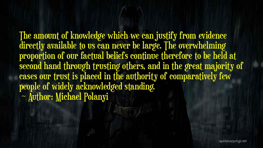 Standing Up For Beliefs Quotes By Michael Polanyi