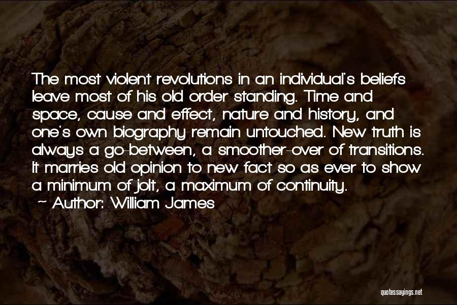 Standing Up For Beliefs Quotes By William James