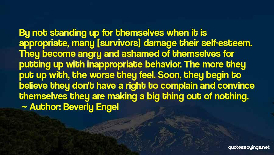 Standing Up For What You Believe Is Right Quotes By Beverly Engel