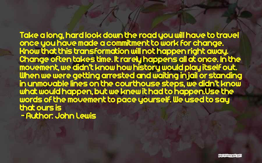 Standing Up For What You Believe Is Right Quotes By John Lewis