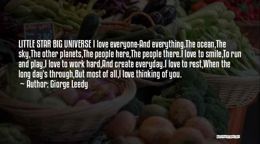Star And Love Quotes By Giorge Leedy