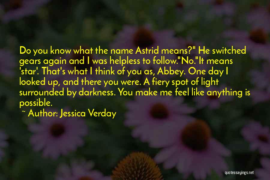 Star And Love Quotes By Jessica Verday