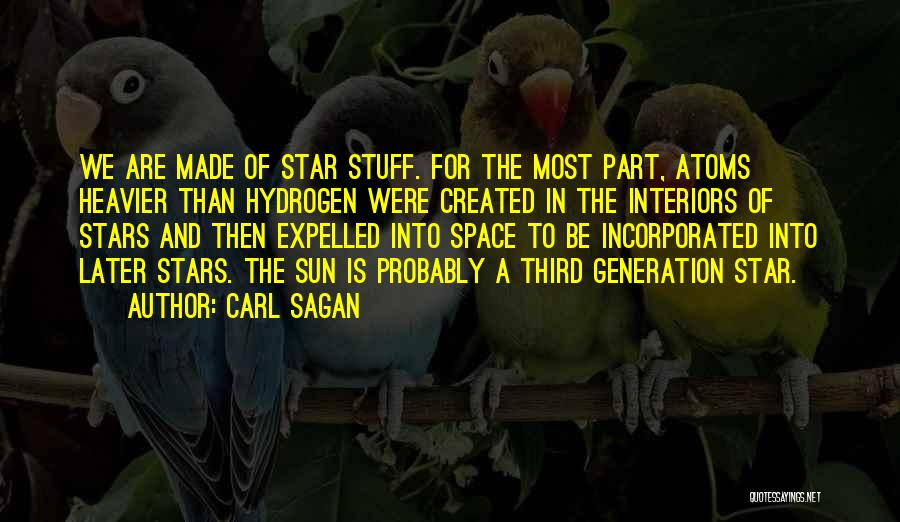 Star In Quotes By Carl Sagan
