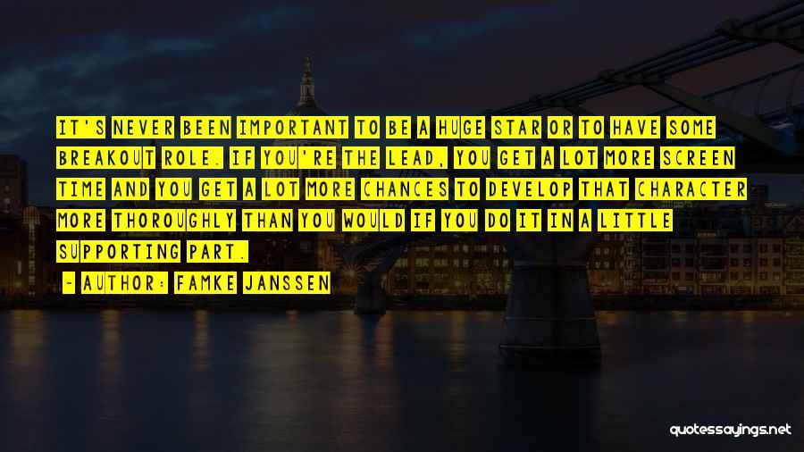 Star In Quotes By Famke Janssen