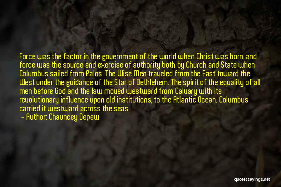 Star Of Bethlehem Quotes By Chauncey Depew