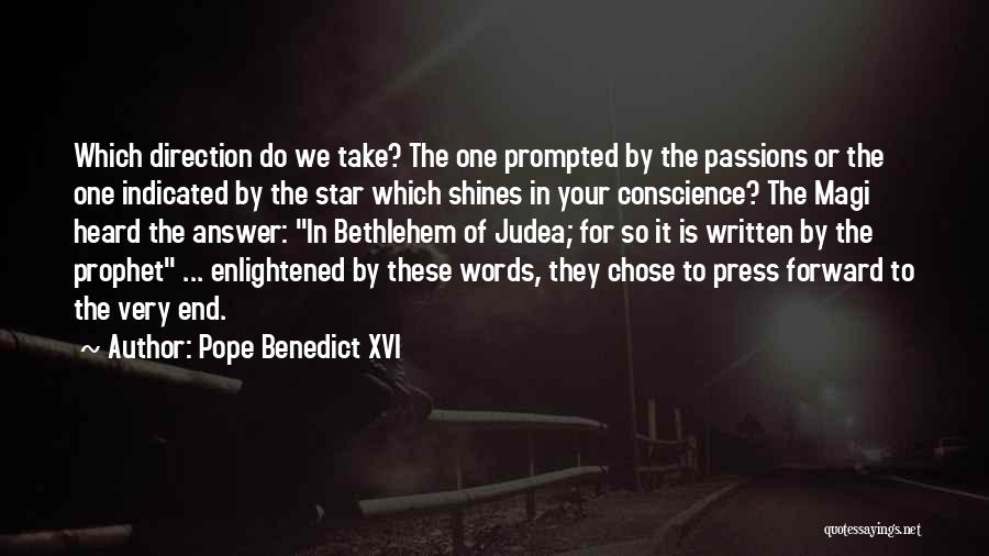 Star Of Bethlehem Quotes By Pope Benedict XVI