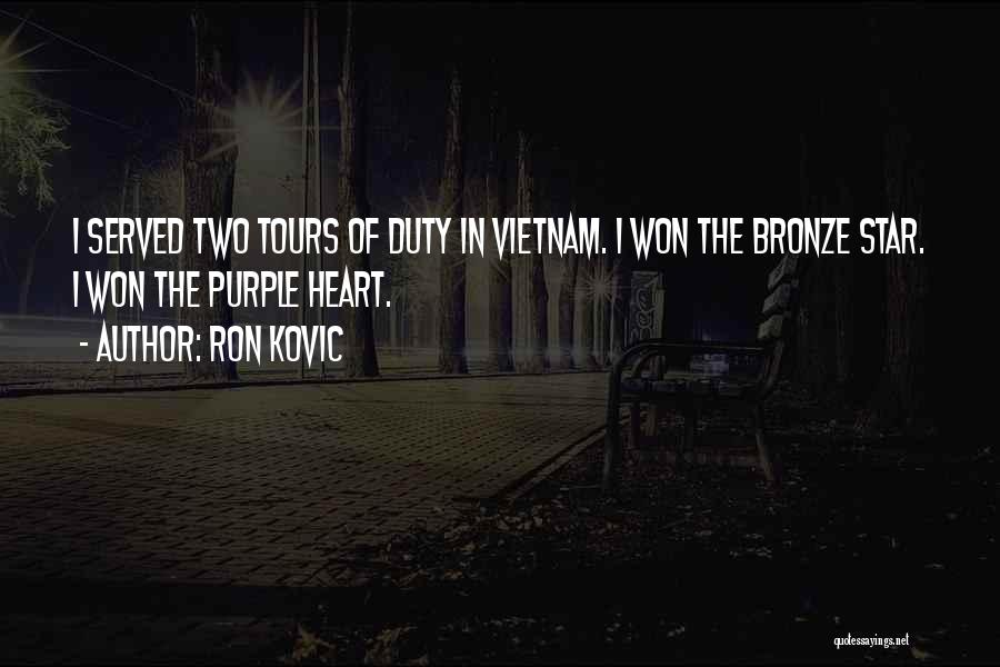 Star Tours Quotes By Ron Kovic