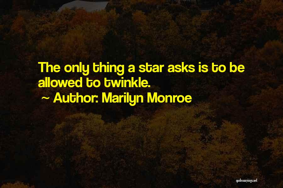 Star Twinkle Quotes By Marilyn Monroe