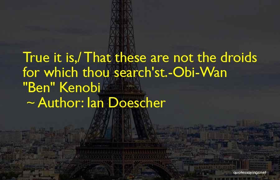 Star Wars Ben Kenobi Quotes By Ian Doescher