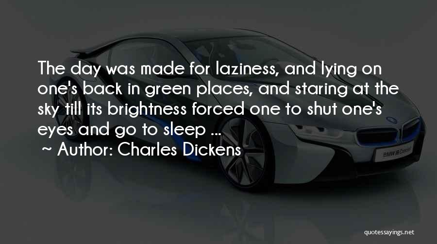 Staring Into Someone's Eyes Quotes By Charles Dickens