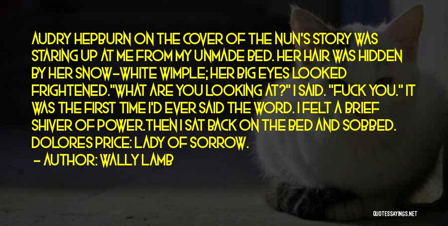 Staring Into Someone's Eyes Quotes By Wally Lamb