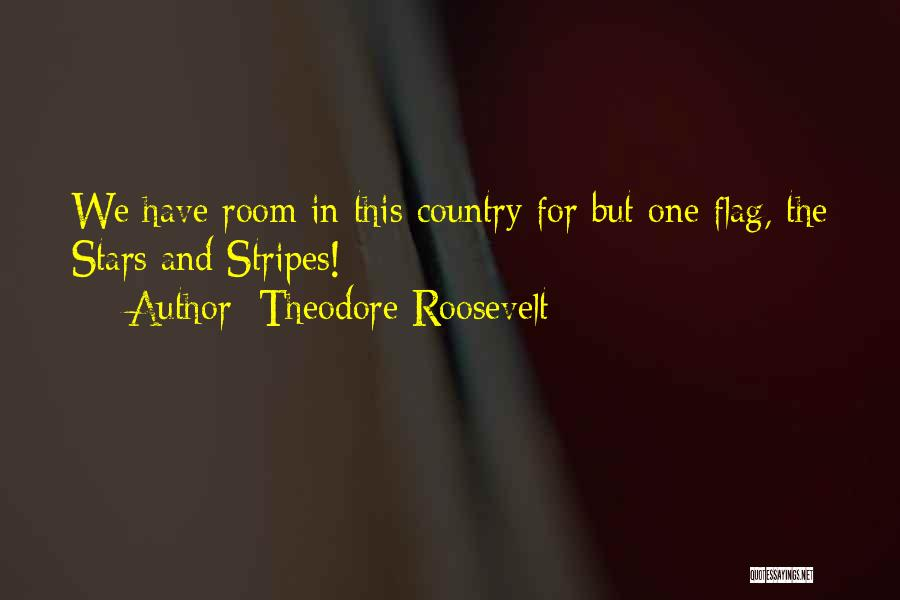 Stars And Stripes Quotes By Theodore Roosevelt