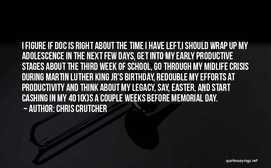 Start Day Right Quotes By Chris Crutcher