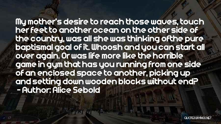 Start It All Over Again Quotes By Alice Sebold