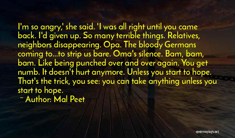 Start It All Over Again Quotes By Mal Peet
