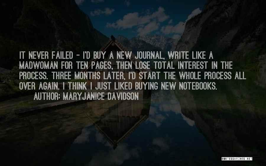 Start It All Over Again Quotes By MaryJanice Davidson