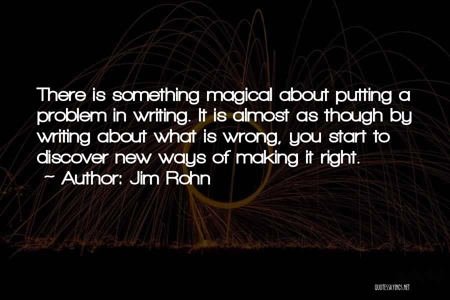Start Of Something New Quotes By Jim Rohn