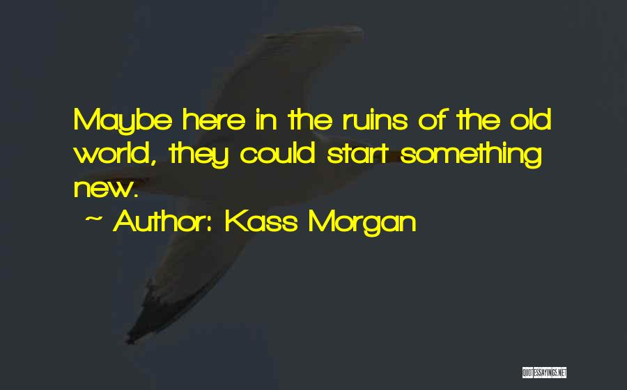 Start Of Something New Quotes By Kass Morgan