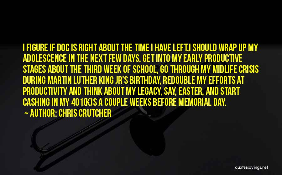 Start The Week Quotes By Chris Crutcher