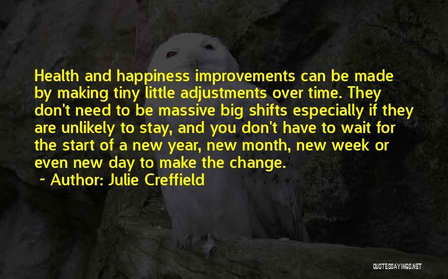Start The Week Quotes By Julie Creffield