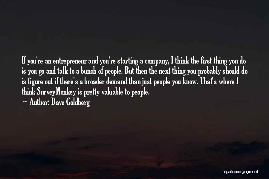 Starting A Company Quotes By Dave Goldberg