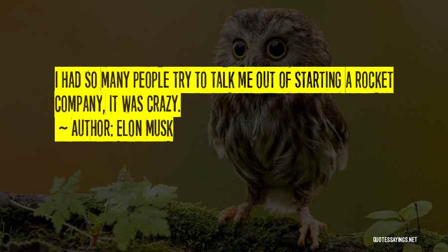 Starting A Company Quotes By Elon Musk