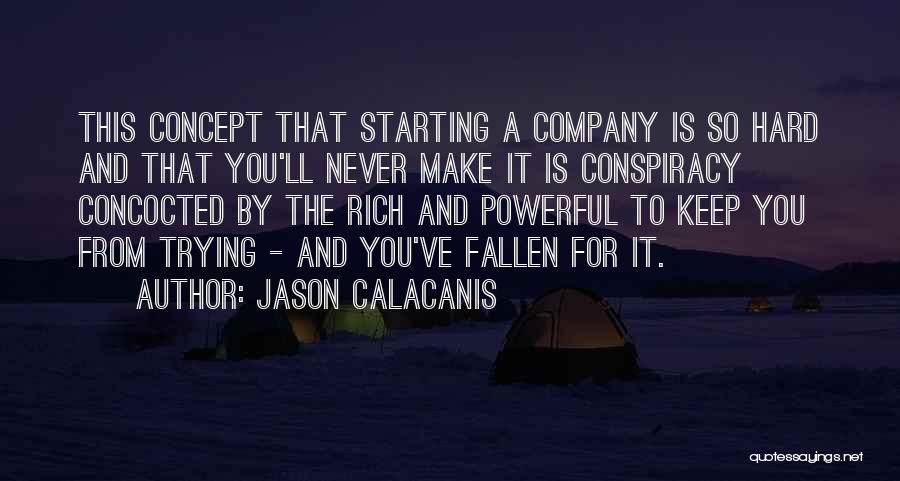 Starting A Company Quotes By Jason Calacanis