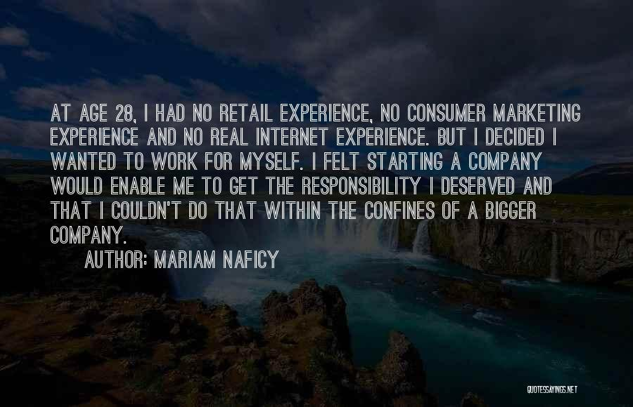 Starting A Company Quotes By Mariam Naficy