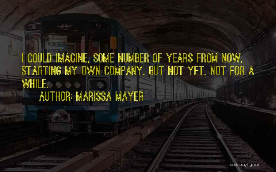 Starting A Company Quotes By Marissa Mayer