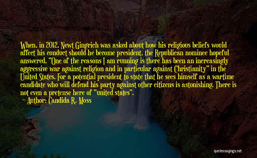 State And Religion Quotes By Candida R. Moss