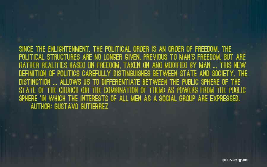 State And Religion Quotes By Gustavo Gutierrez
