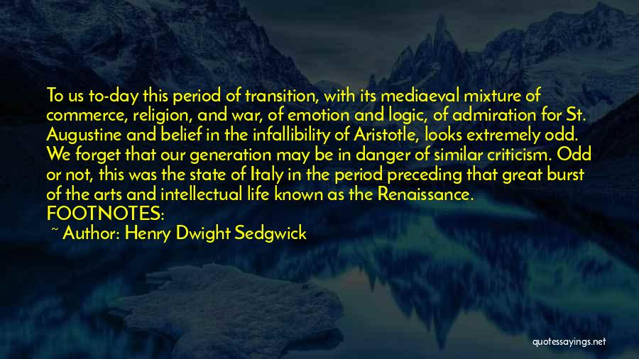 State And Religion Quotes By Henry Dwight Sedgwick