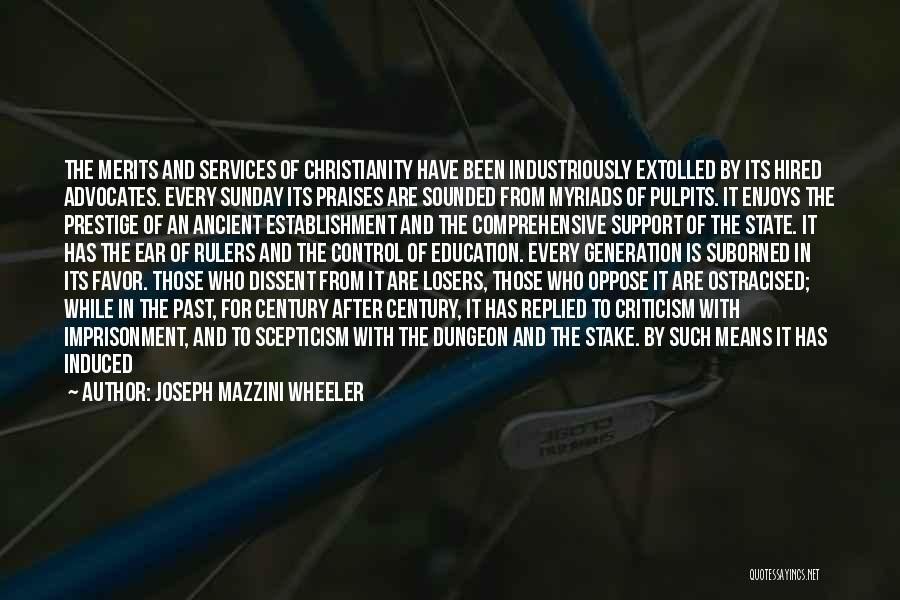 State And Religion Quotes By Joseph Mazzini Wheeler