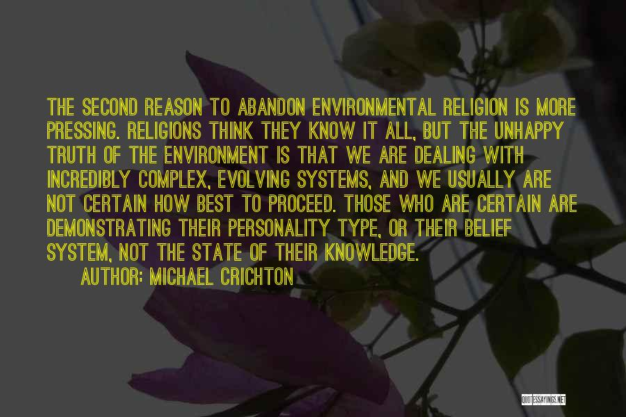 State And Religion Quotes By Michael Crichton