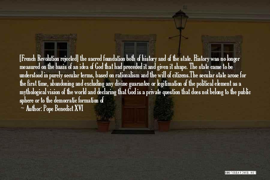 State And Religion Quotes By Pope Benedict XVI