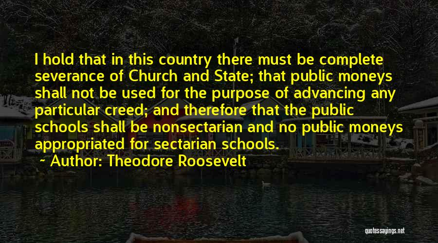 State And Religion Quotes By Theodore Roosevelt