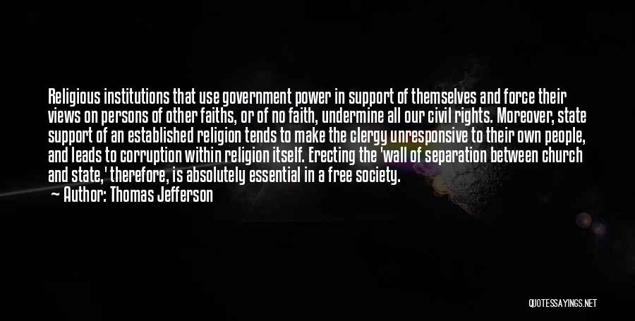 State And Religion Quotes By Thomas Jefferson