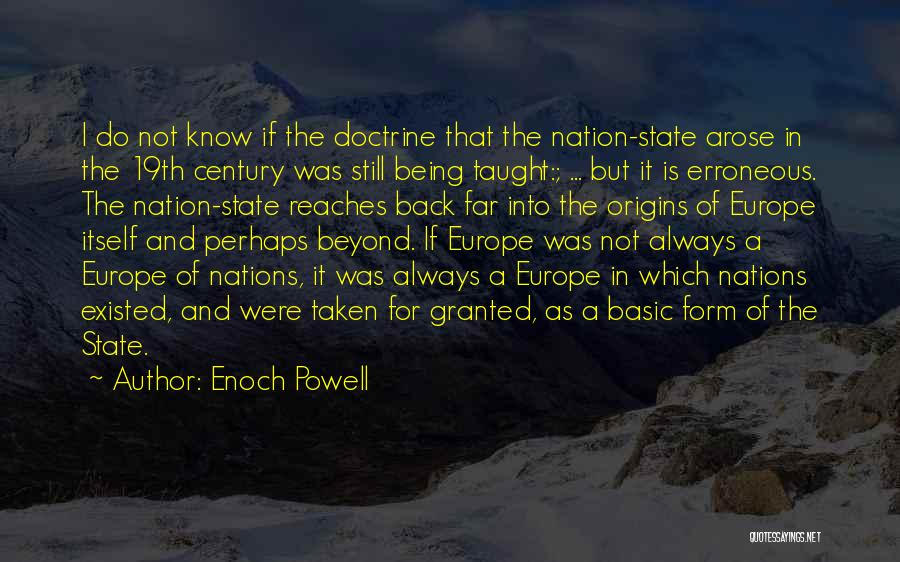 State Of The Nation Quotes By Enoch Powell