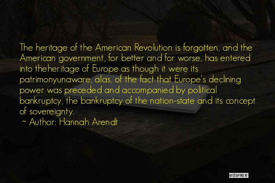 State Of The Nation Quotes By Hannah Arendt