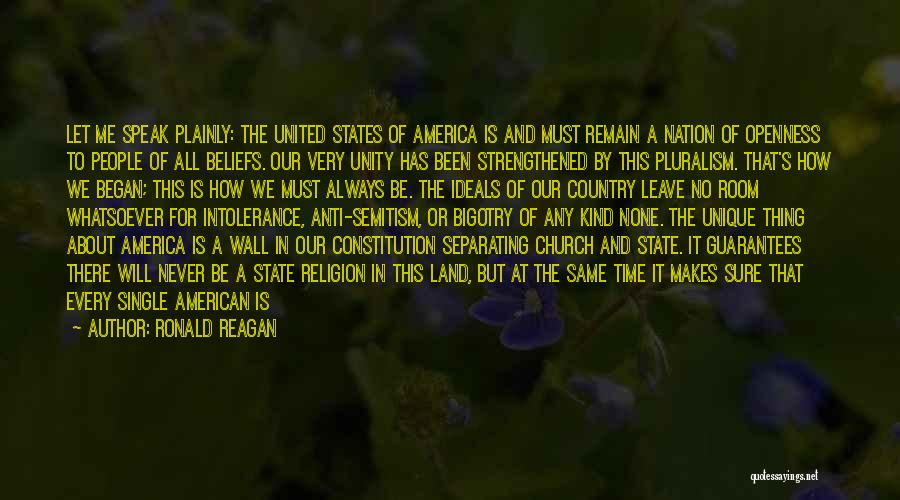 State Of The Nation Quotes By Ronald Reagan