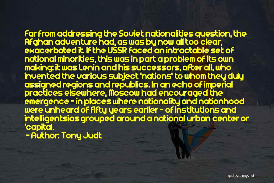 State Of The Nation Quotes By Tony Judt
