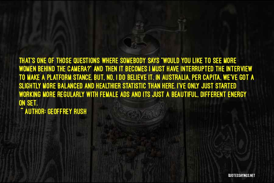 Statistic Quotes By Geoffrey Rush