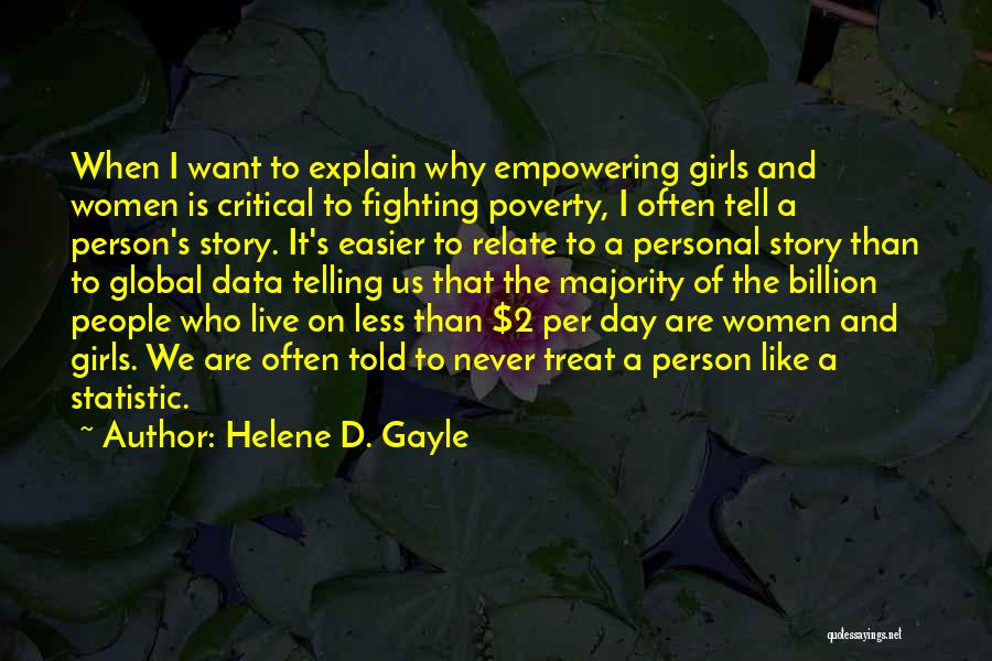 Statistic Quotes By Helene D. Gayle