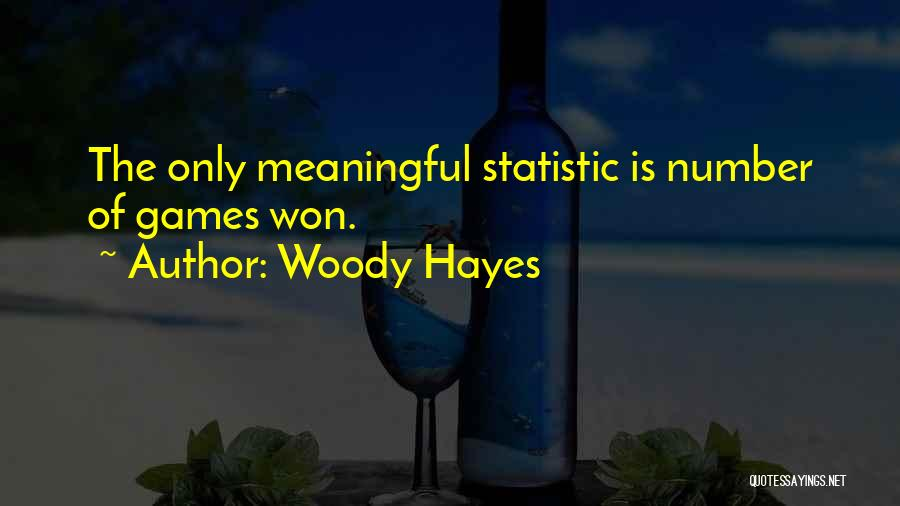 Statistic Quotes By Woody Hayes