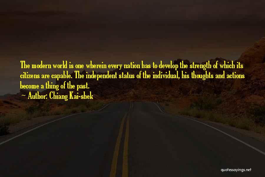 Status Quotes By Chiang Kai-shek