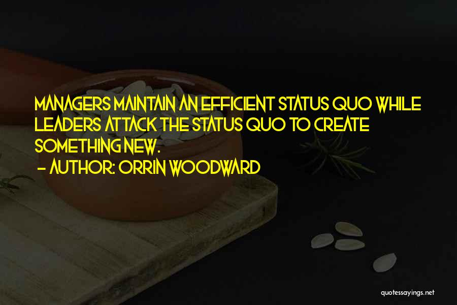 Status Quotes By Orrin Woodward