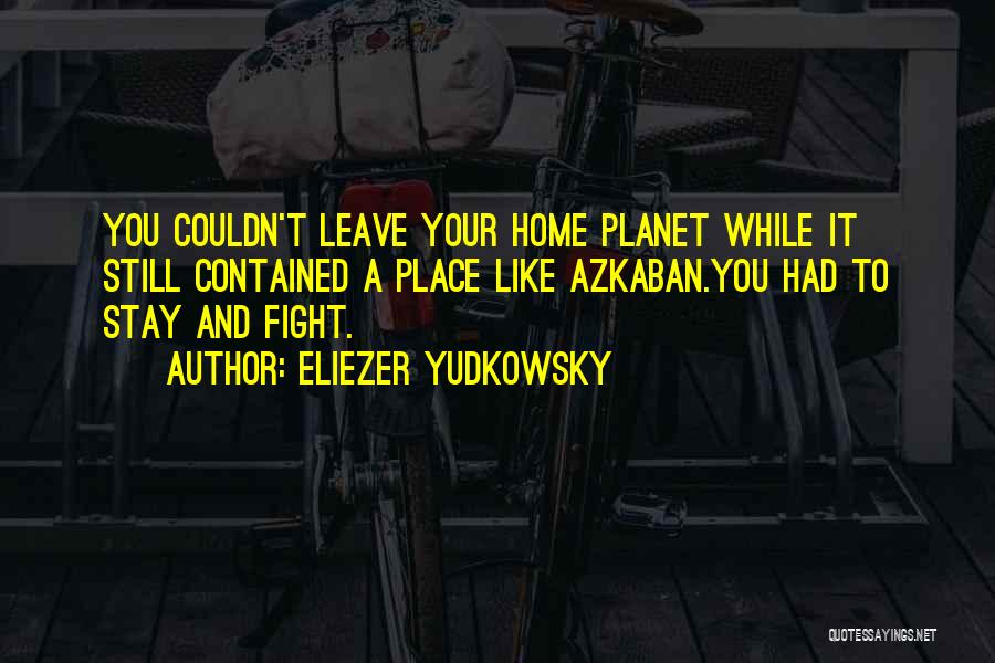 Stay And Fight Quotes By Eliezer Yudkowsky