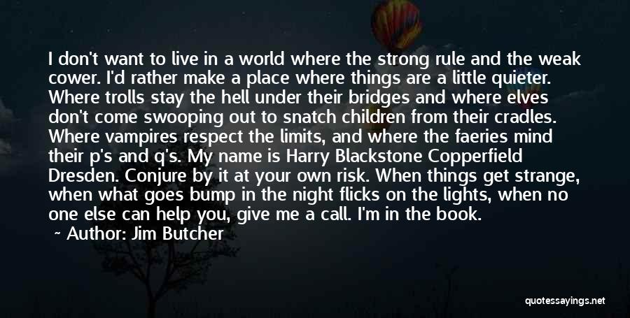 Stay Out My Life Quotes By Jim Butcher